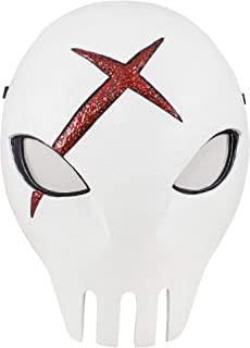 Comics Teen Titans Red X Mask White Skull Mask Cosplay Props with Xcoser Logo