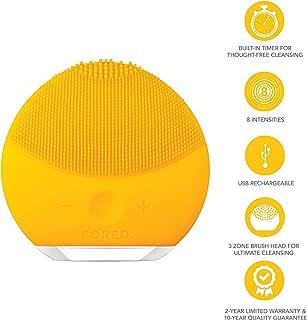 FOREO 斐珞尔 露娜LUNA 迷你2 洁面仪,适合所有皮肤类型,温和去角质,声波清洁,向日葵黄色