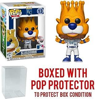 POP! Sports MLB Kansas City Royals, Sluggerrr #13 Action Figure (Bundled with Pop Box Protector to Protect Display Box)