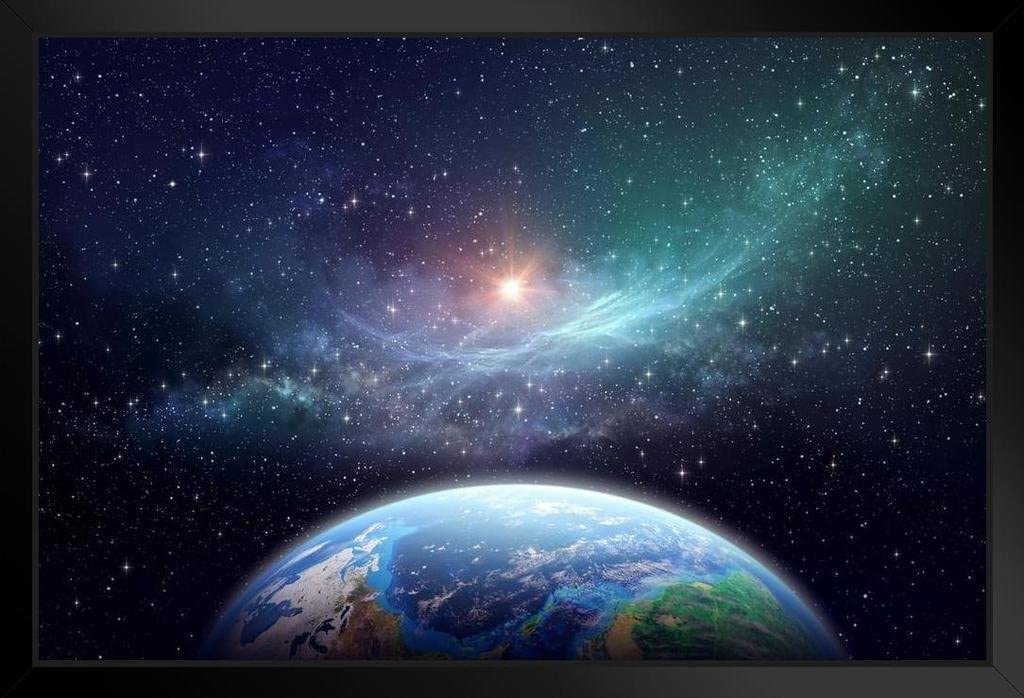 Exoplanet in Outer Space Fantasy Galaxy Print Luxury goods 5 popular Art Picture Black