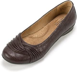 Shoes HILT Women's Flat, Brown/Tumbled, 6 W