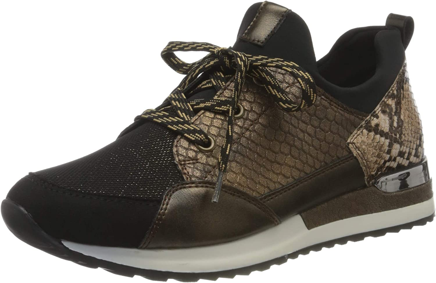 Remonte Lowest price challenge Women's 67% OFF of fixed price Low-Top Sneakers Ant Antique Bronze Black