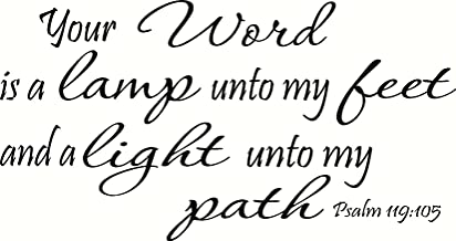 Psalm 119:105 (CV Option 2) Wall Art, Your Word Is a Lamp Unto My Feet and a Light Unto My Path, Creation Vinyls