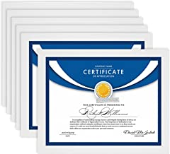 Icona Bay Diploma Picture Frames 8.5x11 (6 Pack, White) College Diploma Frames 8.5 x 11, 8 10 Document Picture Frames, Exc...