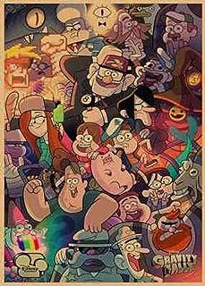 VNYU Rompecabezas de 1000 Piezas Rompecabezas de Madera de Comedia de Aventura Rompecabezas para Adultos/niños/niños/Adolescentes Juegos de Ocio Rompecabezas - Gravity Falls