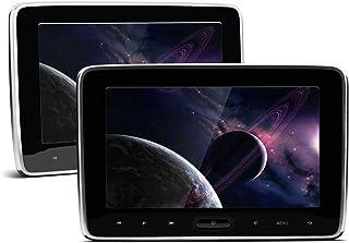 (HD106P_Silver)XTRONS ヘッドレスト モニター DVDプレーヤー内蔵 10.1インチ 大画面 高画質1024*600 軽薄 HDMI機能 取付かんたん ゲーム機能 USB/SD機能 2個セット