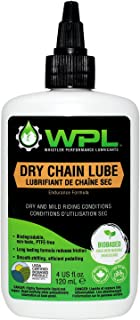 WPL Dry Bicycle Chain Lube for Dry Conditions. Biodegradable Bio-Based and Non-Toxic Formula for Superior Road and Mountain Bike Performance