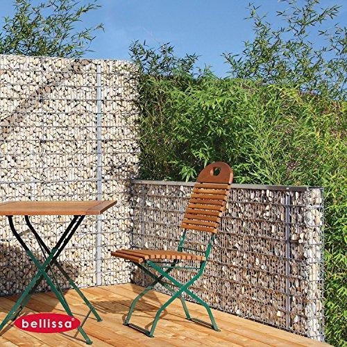 bellissa Steinzaun-Set als Sichtschutz (Höhe 90 cm) 98120 Restposten