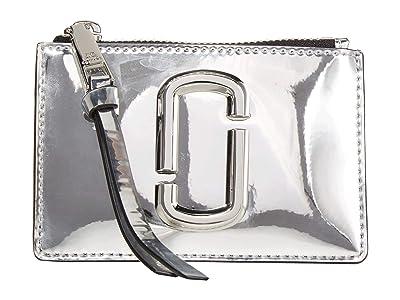 Marc Jacobs Gift Giving Snapshot Top Zip Multi Wallet (Silver) Wallet Handbags