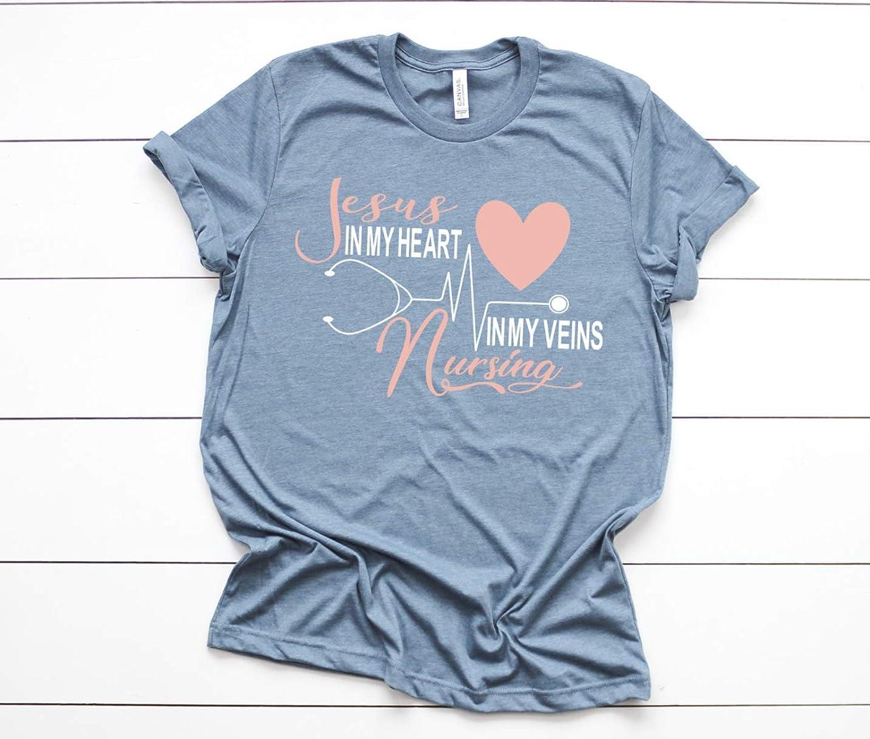 Jesus in my Heart Nursing in my Veins Nurse Shirt
