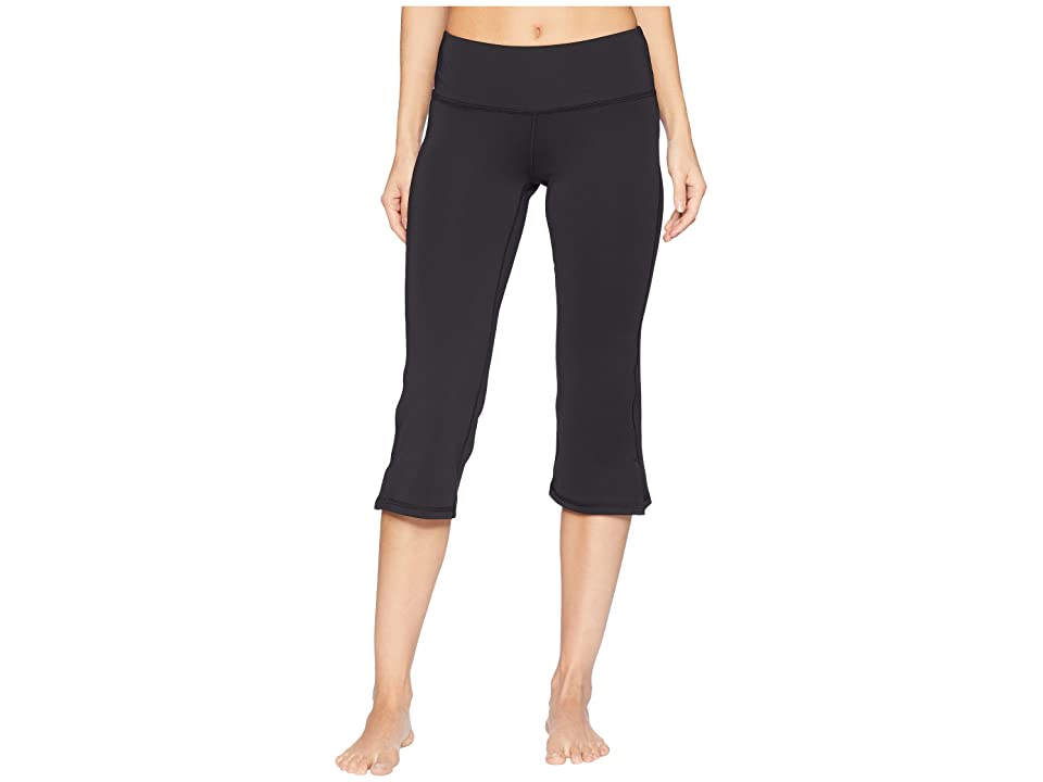 New Balance Core Straight Leg Capris (Black) Women's Casual Pants