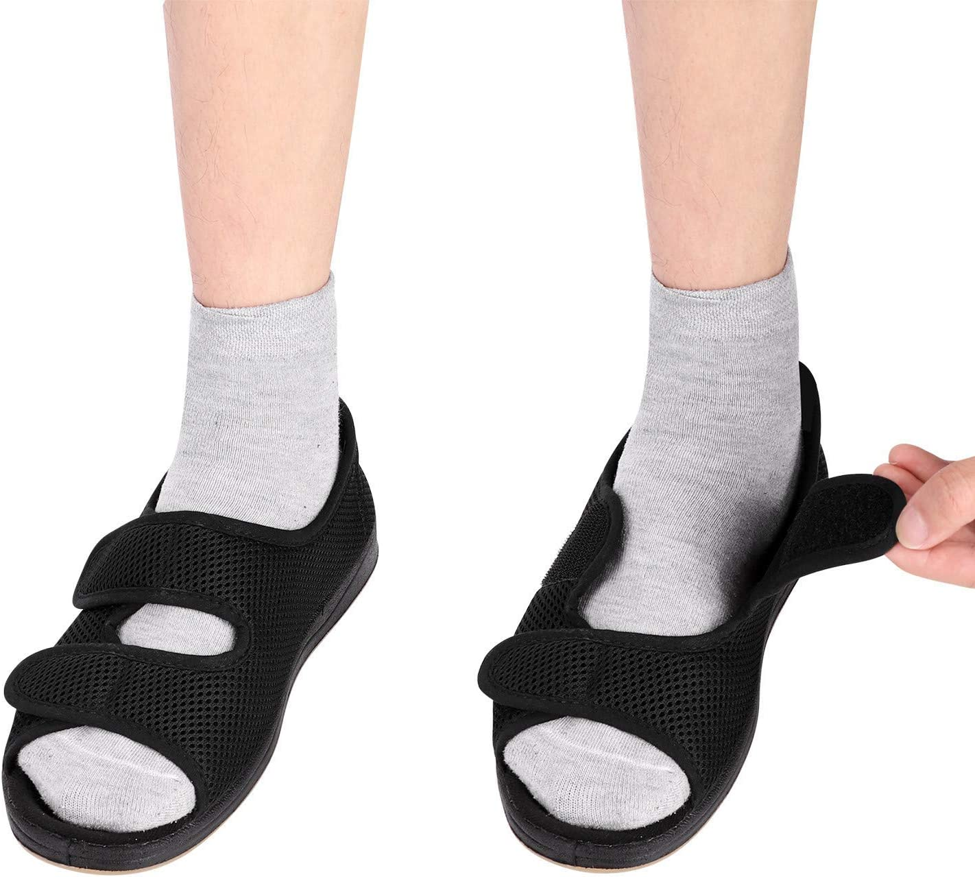 Boston Mall Women's Diabetic Purchase Shoes Adjustable Extra Swollen Slippers Wide Me