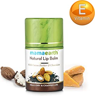Actual title: Mamaearth Natural Lip Balm For Women & Men With Cocoa Butter & Chocolate 4.5g