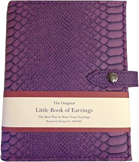 Little Book of Boucles d'oreilles - Solution de stockage Earring - Mock Croc pourpre