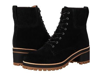 Madewell Kristen Lace-Up Lugsole Boot (True Black) Women