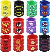 USA WOLF Superhero Slap Bracelet,Boys & Girls Birthday Party Favors and Party Supplies, Superhero Slap Bracelet for Kids School Classroom Rewards, Absolutely Favorite Novelty Toy (24 pcs)