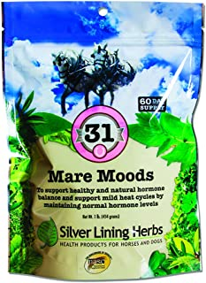 Mare Moods   Supports Mares Healthy and Natural Hormone Balance   Calms Moody Mares To Be More Manageable   Made By Silver Lining Herbs in the USA of Natural Herbs