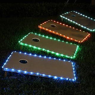 Frienda Cornhole Lights, 16 Colors Change Cornhole Board Edge Night Lights LED with Remote Control for Family Backyard Bea...