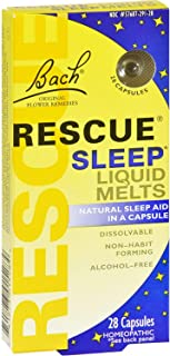 Bach Rescue Sleep Liquid Melts, Dissolvable Capsules 28 ea ( Pack of 3 )