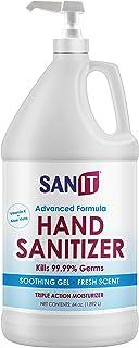 Sanit Moisturizing Hand Sanitizer Gel 70% Alcohol - Kills 99.99% Germs, Advanced Formula with Vitamin E andAloe Vera - So...