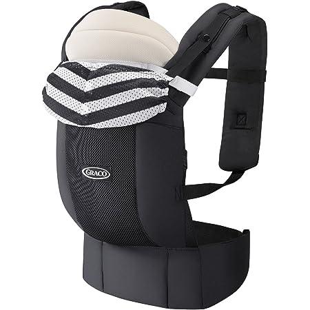 Graco(グレコ) 新生児から使える抱っこ紐 ルーポップゼロ Roopop ZERO (おくるみインサート付き、やわらかメッシュ、疲れにくい腰ベルト) モノトーンボーダーBK 67550