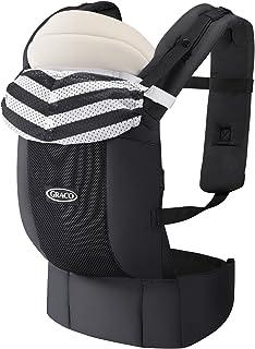 グレコ 抱っこ紐 だっこひも 新生児から ルーポップゼロ Roopop ZERO (おくるみインサート付き) モノトーンボーダーBK 67550