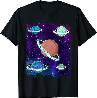 Univers Galaxie Système Solaire Science Astronomie Planètes T-Shirt