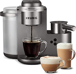 Keurig K-Cafe Special Edition Coffee Maker, Single Serve K-Cup Pod Coffee, Latte and Cappuccino Maker, Comes with Dishwasher Safe Milk Frother, Coffee Shot Capability, Nickel