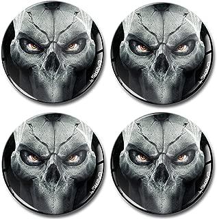 SkinoEu/® 2 x 30mm 3D Gel Silicona Stickers Pegatinas Adhesivo Calavera Skull Youre Next Autos Coches Moto Ciclomotores Bicicletas Ordenador Port/átil Tuning KS 8