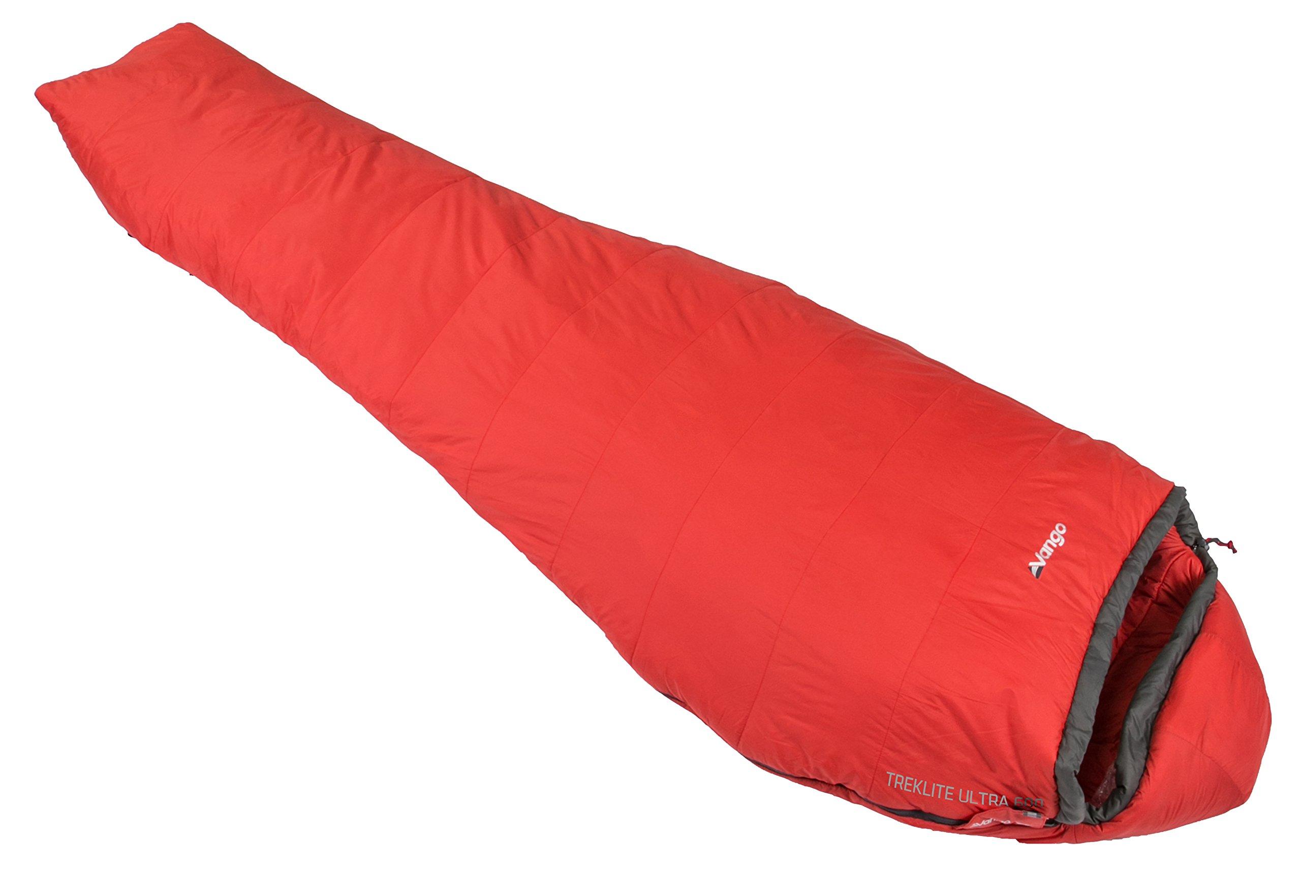 Vango Treklite Leichter Schlafsack,Rot (Volcano), Ultra 600