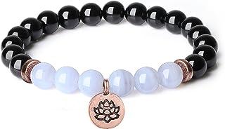 coai Bracelet Pierre Breloque Fleur de Lotus Femme