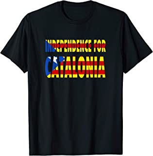 Estelada Blava Flag   Independence for Catalonia T-Shirt