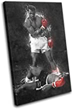Bold Bloc Design - Muhammad Ali Liston Grunge Boxing Sports 75x50cm Single Canvas Art Print Box Framed Picture Wall Hangin...