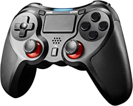 JAMSWALL Mando Inalámbrico para PS4, Gamepad Wireless Bluetooth Controlador Controller Joystick con Doble Vibracion/Puerto de Audio Compatible con PS4/ PC (Windows XP/7/8/8.1/10)