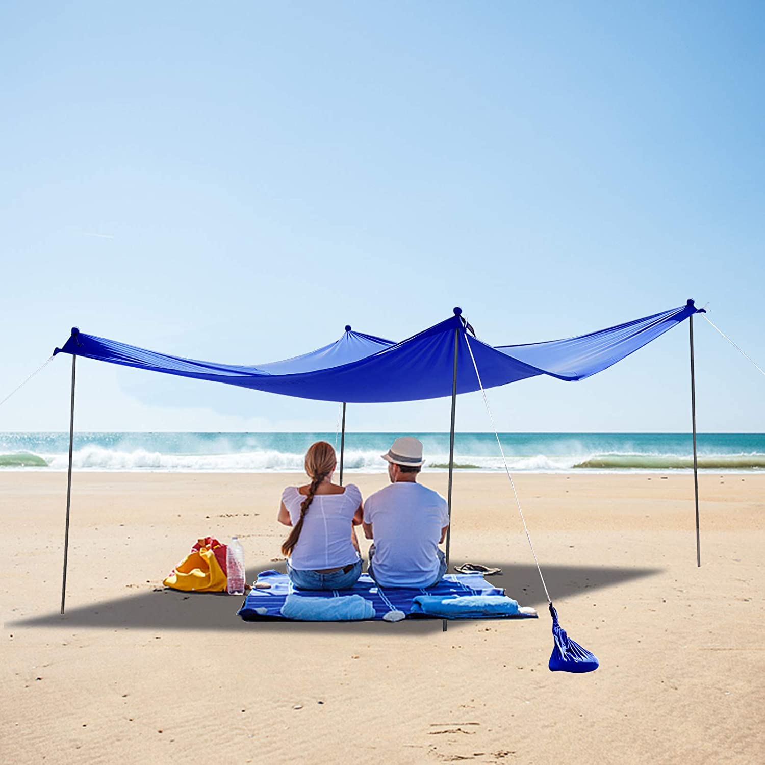 Beach Tent Store Sun Shelter New products, world's highest quality popular! 7x7.5 FT Pole Pop 4 Up Canopy