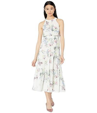 Ted Baker Kahlay Pergola Tiered Midi Dress (Ivory) Women