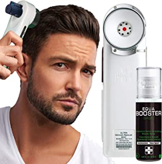Hair Growth System Hair loss Treatment - BIOEQUA Enercharger (H1) Cold Ion Charging Scalp Revitalization Technology for Boosting Follicles Vitality and Regaining Hair Density