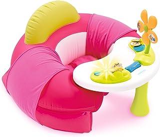 Smoby - Cotoons Cosy Seat Rose - Siège Gonflable + Tablette d'Eveil - Fauteuil pour Bébé dès 6 Mois - 110211