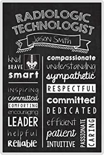 Radiologic Technologist Chalkboard Wall Art – Radiologic Technologist Graduate Gift – Radiologic Technologist Appreciation Personalized Poster