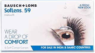 Bausch & Lomb SofLens 59 Pack of 6 Contact Lens, -3.75 Diopters, 14.2 mm