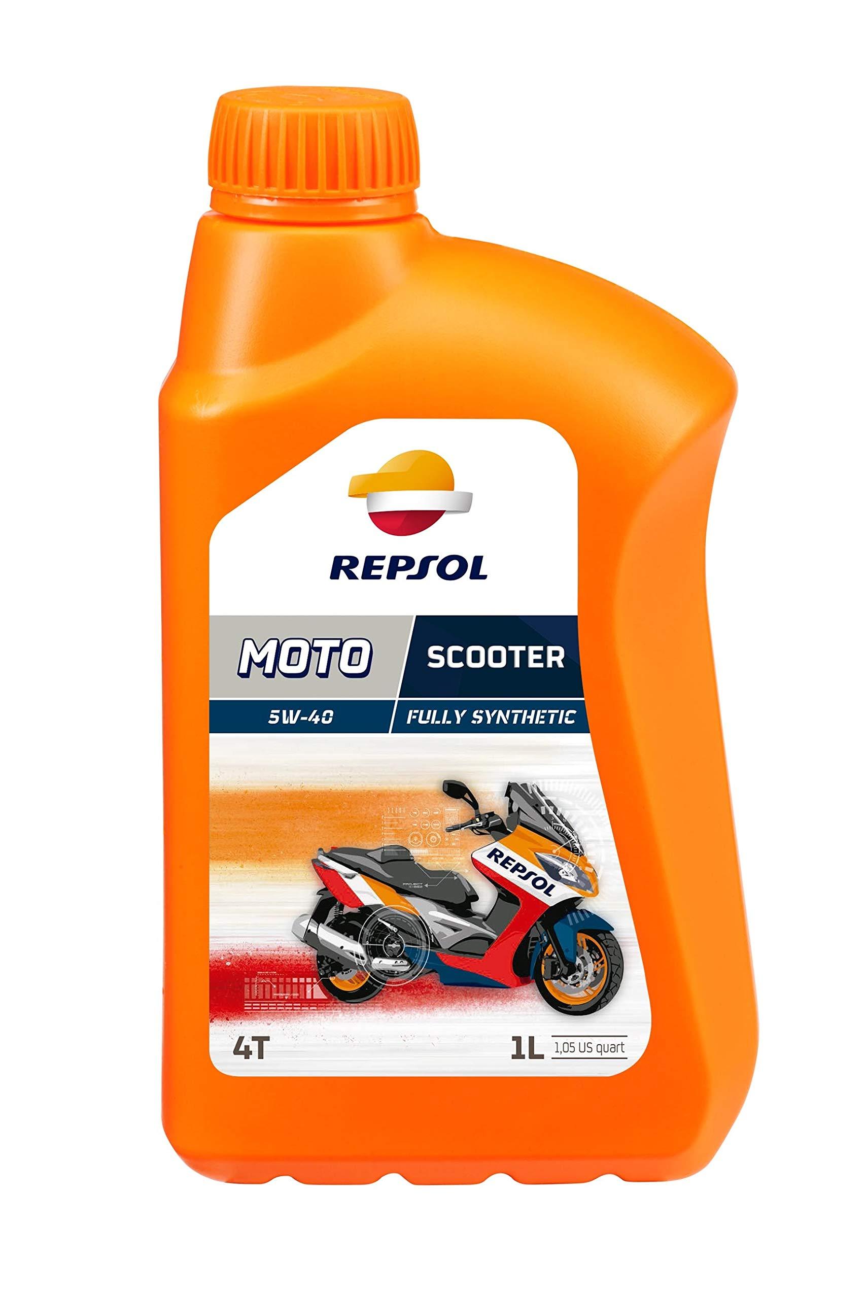 Repsol RP164L51 Moto Scooter 4T 5W-40 Aceite de Motor, Multicolor, 1 L: Amazon.es: Coche y moto