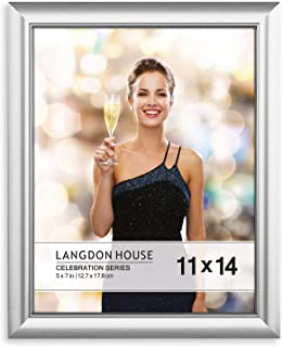 Langdon House 11x14 Picture Frame (1 Pack, Silver), Silver Photo Frame 11 x 14, Wall Mount or Table Top, Set of 1 Celebration Collection
