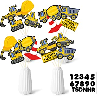 32pcs Construction Party Centerpiece - Dump Truck Table Topper - Builder Zone Birthday Party Supplies for Baby Shower Kids