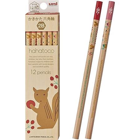 三菱鉛筆 かきかた鉛筆 ハハトコ 木軸 HT02 2B リス&家 1ダースK56212B
