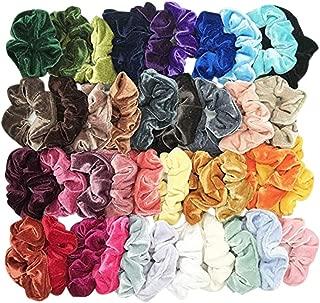 40 Pcs Hair Scrunchies Velvet Elastic Hair Bands Scrunchie for Women or Girls Hair Accessories - 40 Assorted Colors