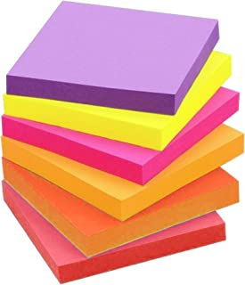 Codall Note Color 3 x 3 self-Adhesive Note 6 Bright Colors 6 Notes, 100 Sheets of Paper/Note, Suitable for Office, Study, ...