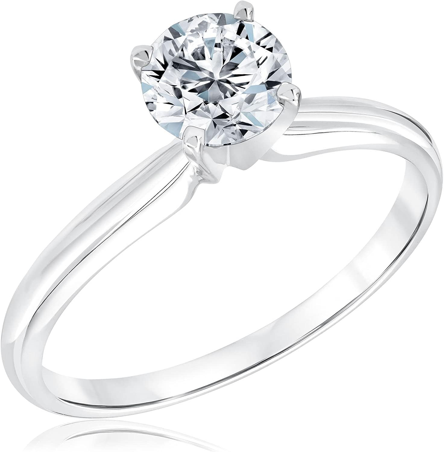 Classic Sales results No. 1 Round Diamond Solitaire shipfree Engagement Ring 4ct Size 9.5 3 -