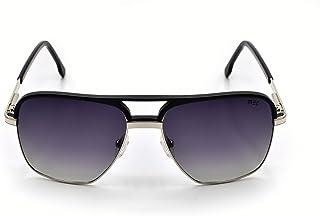MS7074 C1 Size 57 نظارات شمسية من ميك كلوب ماستر للجنسين فضي / أسود