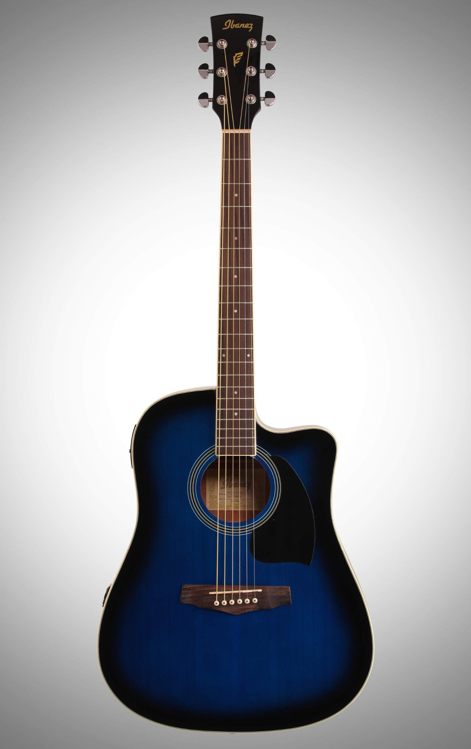 Ibanez PF15ECE-TBS Guitarra electroacústica, Transparente Blue ...