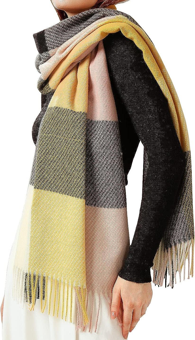 Locachy Women's Fashion Winter Warm Plaid Blanket Scarf Long Big Tartan Wrap Shawl Scarves